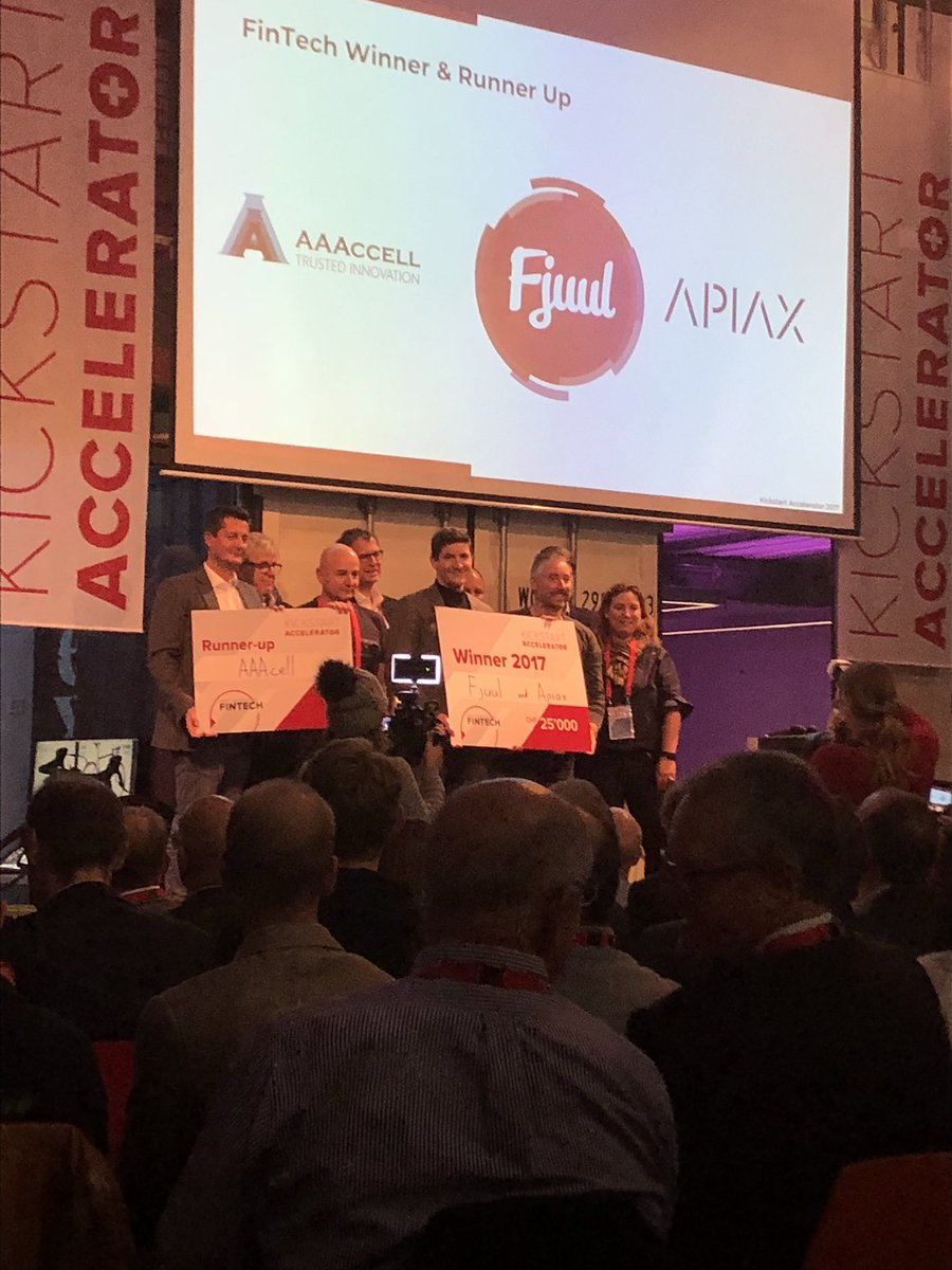 Pretty stoked to be one of the winners of the #fintech vertical @ks_accelerator #makeithappen <br>http://pic.twitter.com/ucltFzghuJ