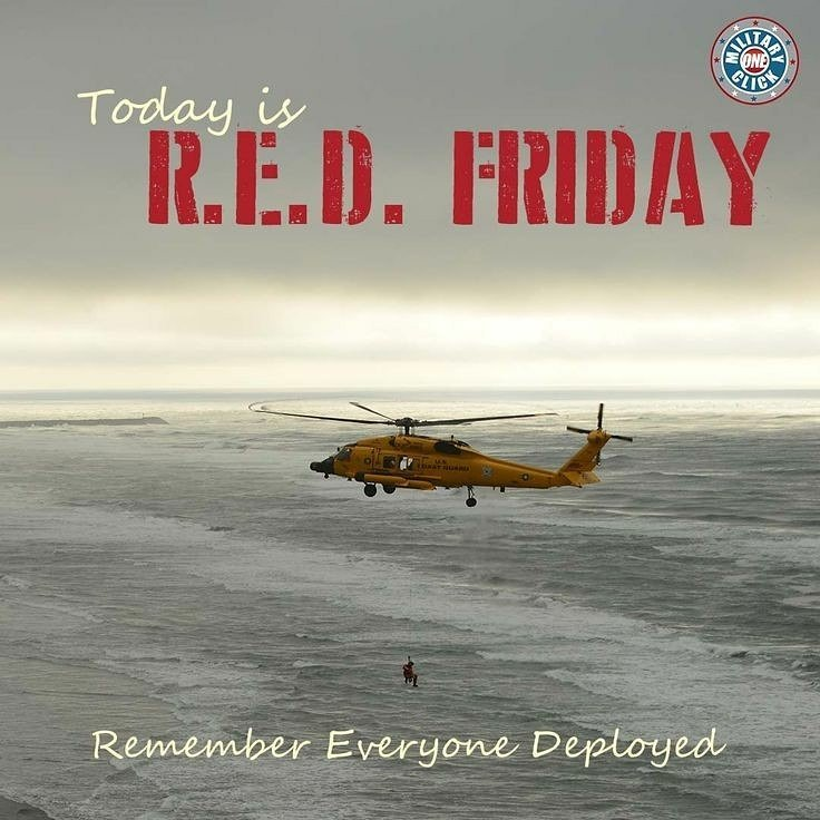R.E.D. Friday!   Remember Everyone Deployed Until they ALL Come Home. Do you have your RED on? ~DocN #REDFriday #wearredfriday #SupportOurTroops #usa #usmilitary<br>http://pic.twitter.com/XOlTwyiBo0