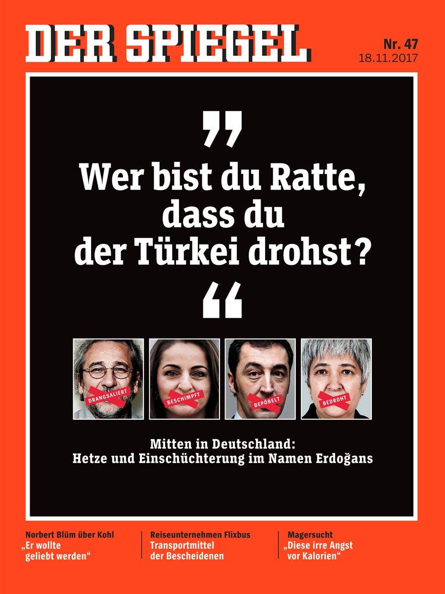 Der neue SPIEGEL ist da! Einige der Themen: Erdogan-Kritiker in Deutschland, Flixbus - das Transportmittel der Bescheidenen, und ein Interview über Magersucht. Ab morgen am Kiosk, digital schon jetzt hier: https://t.co/q7A0AVf6yd