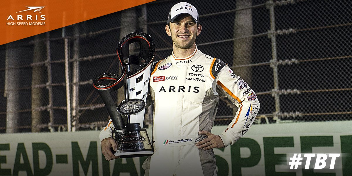 A day of history making. #Throwback to @Daniel_SuarezG's Xfinity Championship last year in Homestead.<br>http://pic.twitter.com/DZfoZaiojY