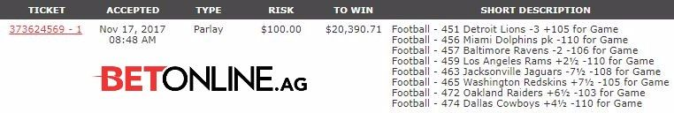 #ParlayPayday is BACK ! Follow+RT+Like this tweet and if this parlay hits you win a share of 20k+!  Deadline is 12pm EST Sunday #NFL #Parlay #Cash #FridayFeeling<br>http://pic.twitter.com/3juGJRqMPO