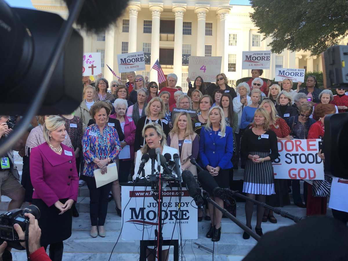 """We're in a battle. Thank you for your prayers."" : Kayla Moore wife of @MooreSenate https://t.co/HpSHURjkdD"