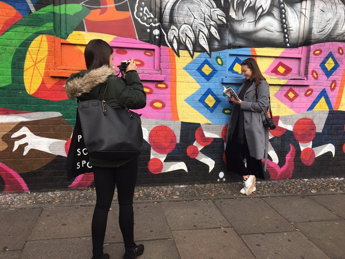 Sharpening photography skills with @hollymcglynn @datacolor #DatacolorxHolly #streetart #londonisopen