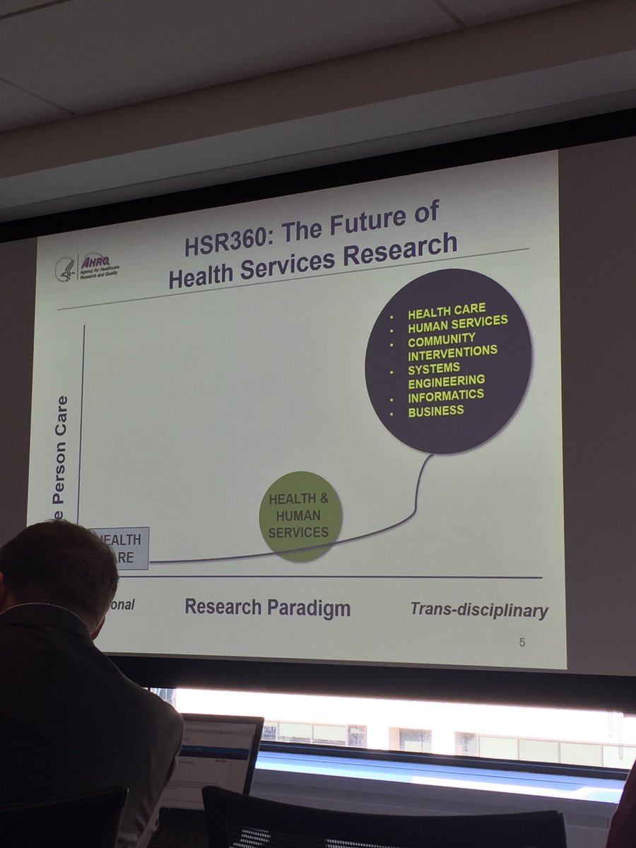 """""""AHRQ 2.0"""" includes #communityhealth and #systemsthinking to go beyond the health system's walls #concordium17 @AHRQNews @AcademyHealth<br>http://pic.twitter.com/vezoEPuhbx"""