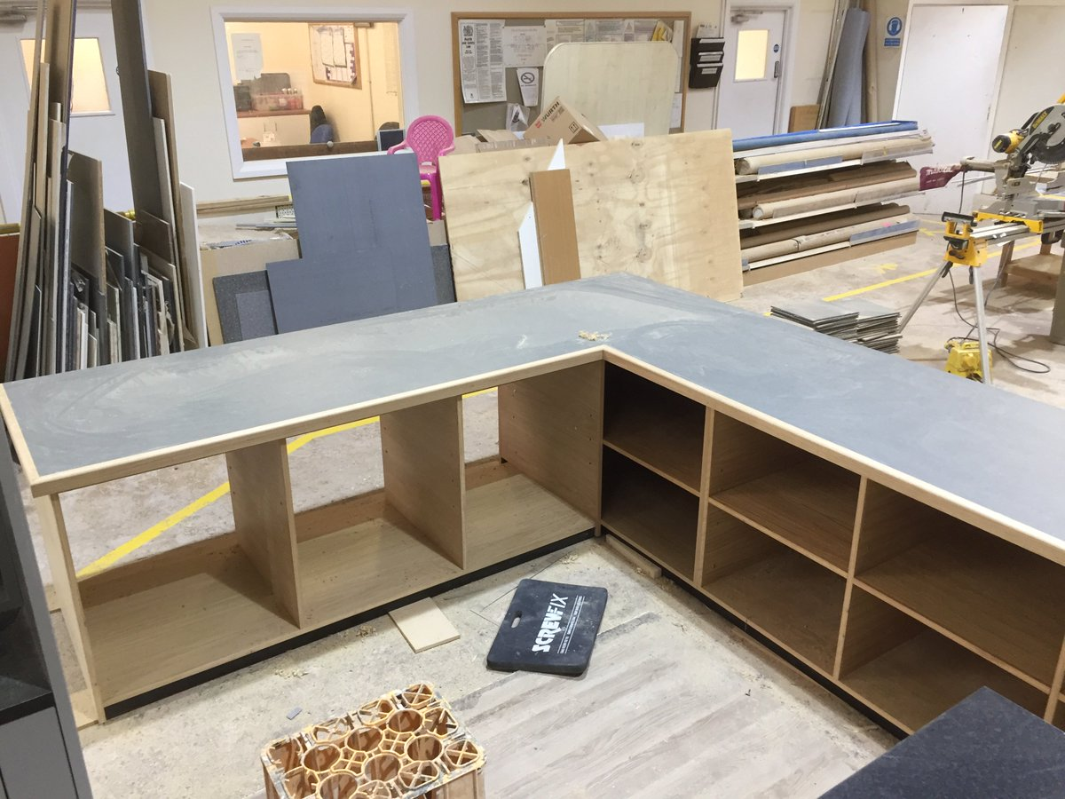 2 Counter's ready for #installation next #week @PostOffice @SMKBuilding #shopfitting @mickplus4 #joinery<br>http://pic.twitter.com/sgGZ5zeH0y