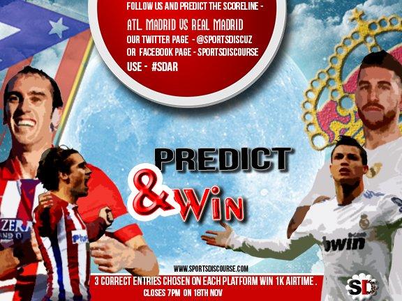 .@Atleti VS .@realmadrid LET THE PREDICTION STARTS...... @NIGERIA #PREDICT .@SportsDiscuz #ATLRMA .@Gidi_Traffic .@premierleague .@seunajidagba .@fiiwasayeyi<br>http://pic.twitter.com/okvbVogNGw