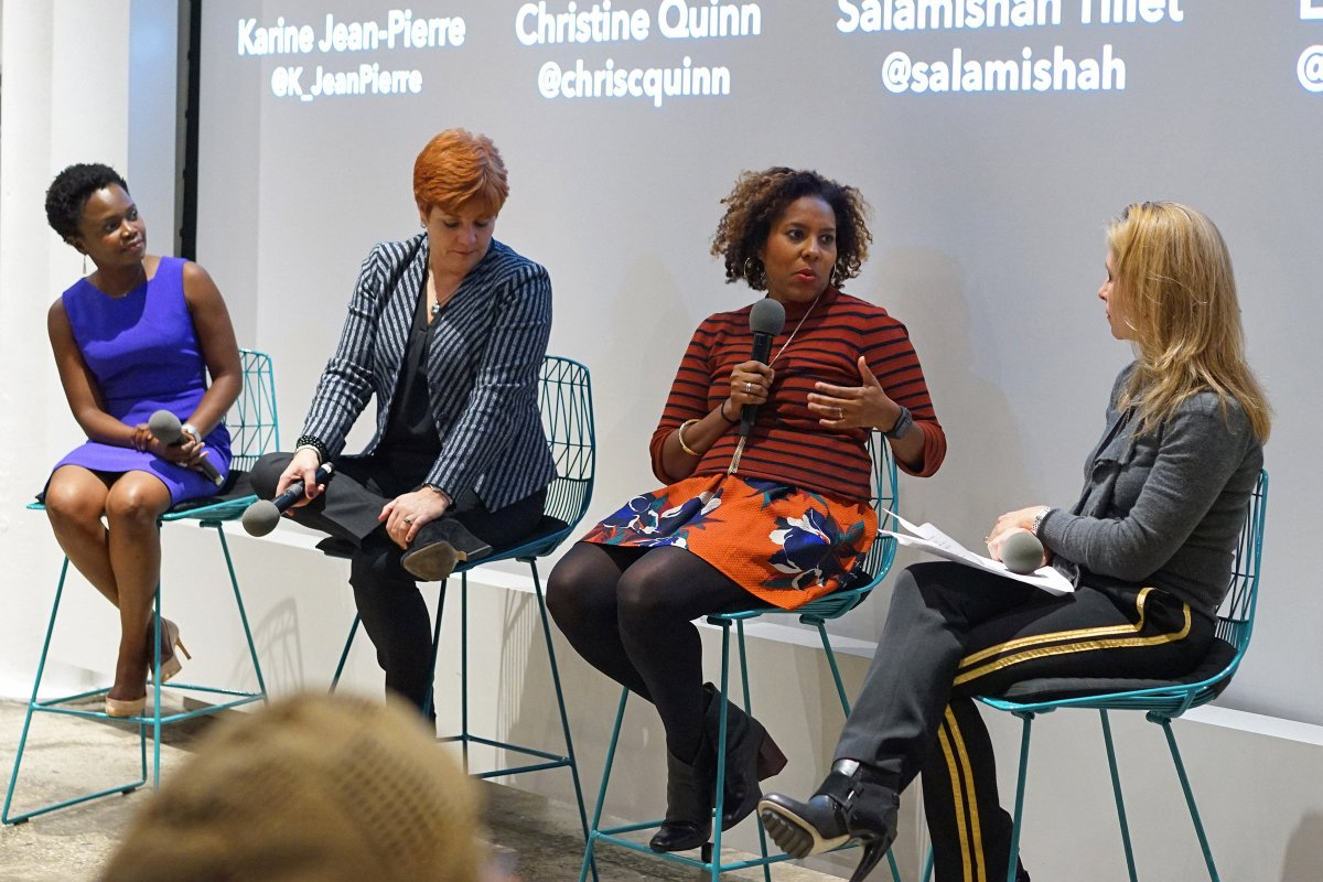 Last night we partnered with @NewAmericaNYC and three dynamic #equality advocates, @K_JeanPierre, @chriscquinn, and @salamishah for a lively conversation exploring the state of #inequality under the Trump Administration.<br>http://pic.twitter.com/fytjruKBng
