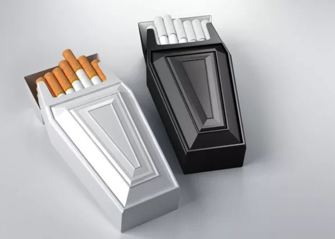 Anti-smoking cigarette packaging that really drives the message home.  #pre #surrey #epsom #UK #design #web #branding #logo #packaging  http:// bit.ly/29iZLil  &nbsp;  <br>http://pic.twitter.com/G7nEAawNHE