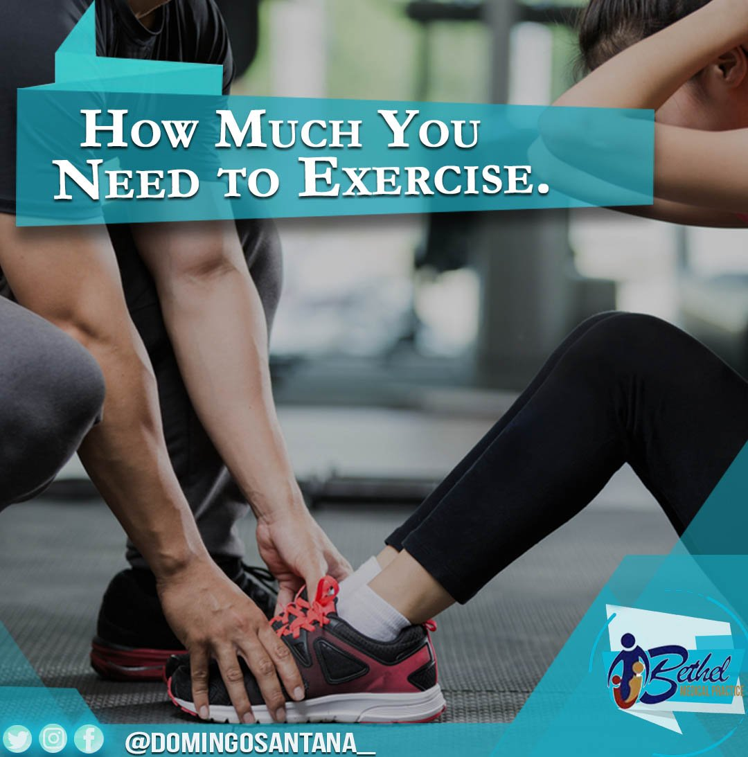 How Much You Need to Exercise.  http:// bit.ly/2zJCIrW  &nbsp;    #DomingoSantana #lifecoach #coach #gym <br>http://pic.twitter.com/lzOxW7gFXf