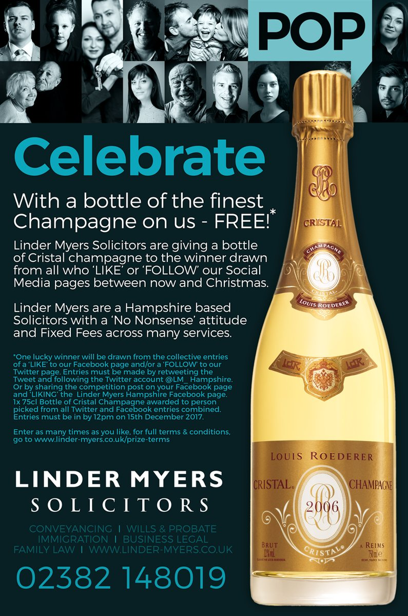 #RT this &amp; #follow @LM_Hampshire to WIN this bottle of Cristal Champagne, for t&amp;c&#39;s  http:// bit.ly/2y2c9wL  &nbsp;   #Competition #freebie #giveaway<br>http://pic.twitter.com/fK521tPXry