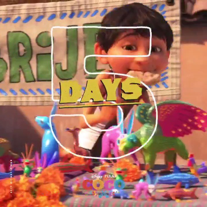Let the music move you! Shimmy and shake your way to the theatre to see #PixarCoco in just 5 days. Tickets: http://Bit.ly/CocoTix