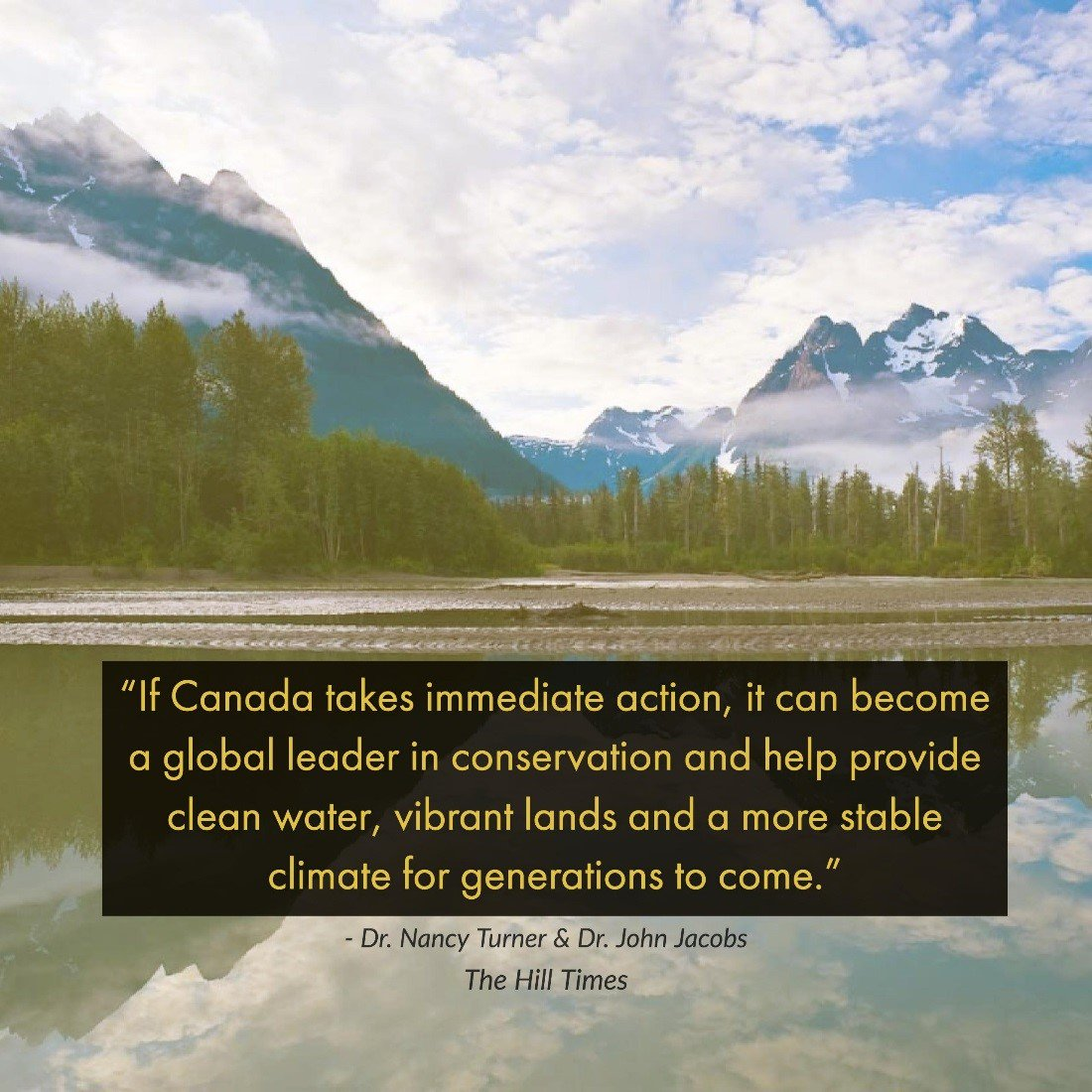"""The world pledged to protect at least 17% of their lands by 2020. Canada has a UNIQUE opportunity to point the way forward."" -- @Jjacobs2050 &amp; Turner @TheHillTimes  http:// bit.ly/2hsyPNx  &nbsp;   #Conservation #Boreal <br>http://pic.twitter.com/yyLkjdCZzE"