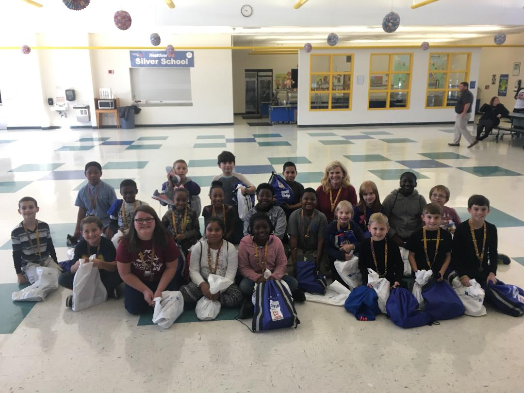 Congratulations to Mrs. Roudybush&#39;s class for winning Educate My Sole and earning free brand new tennis shoes for each student.  We are so proud of everyone&#39;s hard work! Thank you @dawnstaley for founding such a great initiative! #BLES #4thGrade @NancyKRoudybush<br>http://pic.twitter.com/SPxMAecWbJ