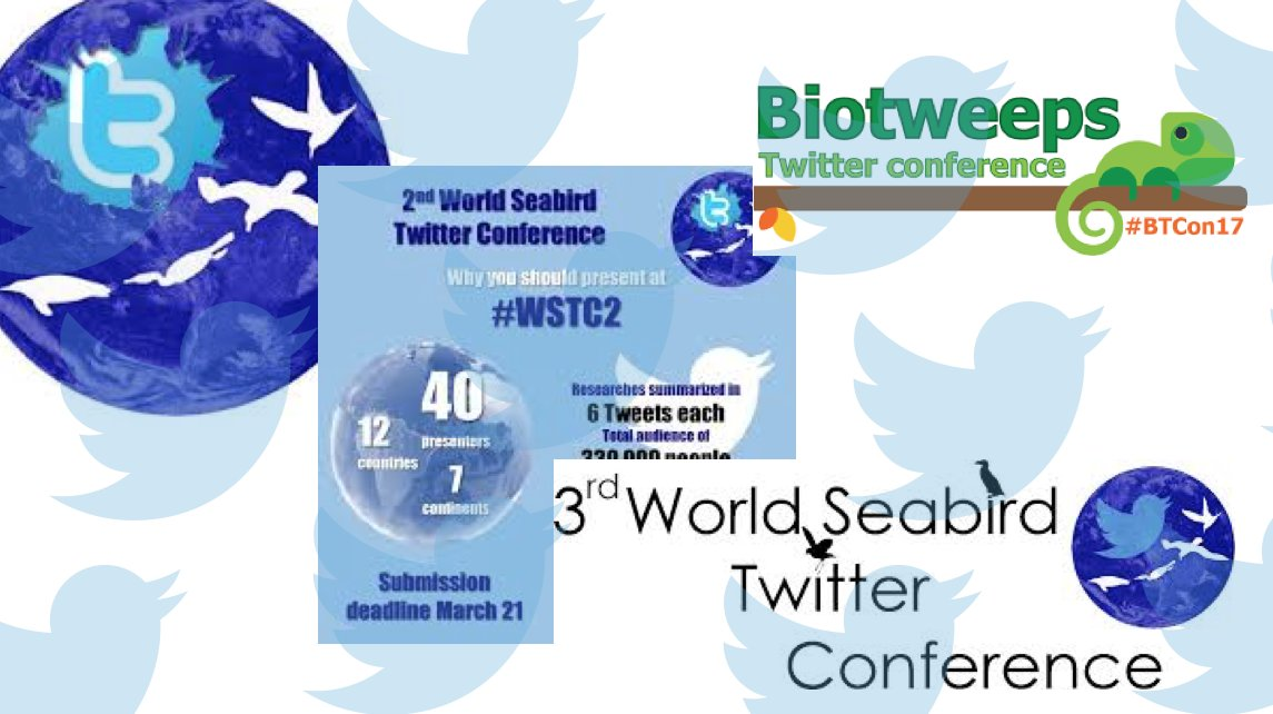 The use of Twitter has extended to Twitter conferences. In #ornithology this has included three @seabirders conferences, e.g. #WSTC3, and in ecology the @biotweeps conference #BTcon17 | #scicomm #SciParty <br>http://pic.twitter.com/WCdfja0jTB