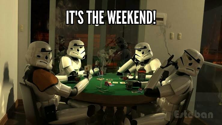 It&#39;s the weekend! Time to relax.   #Weekend #StarWars<br>http://pic.twitter.com/1uGmcG2r3K