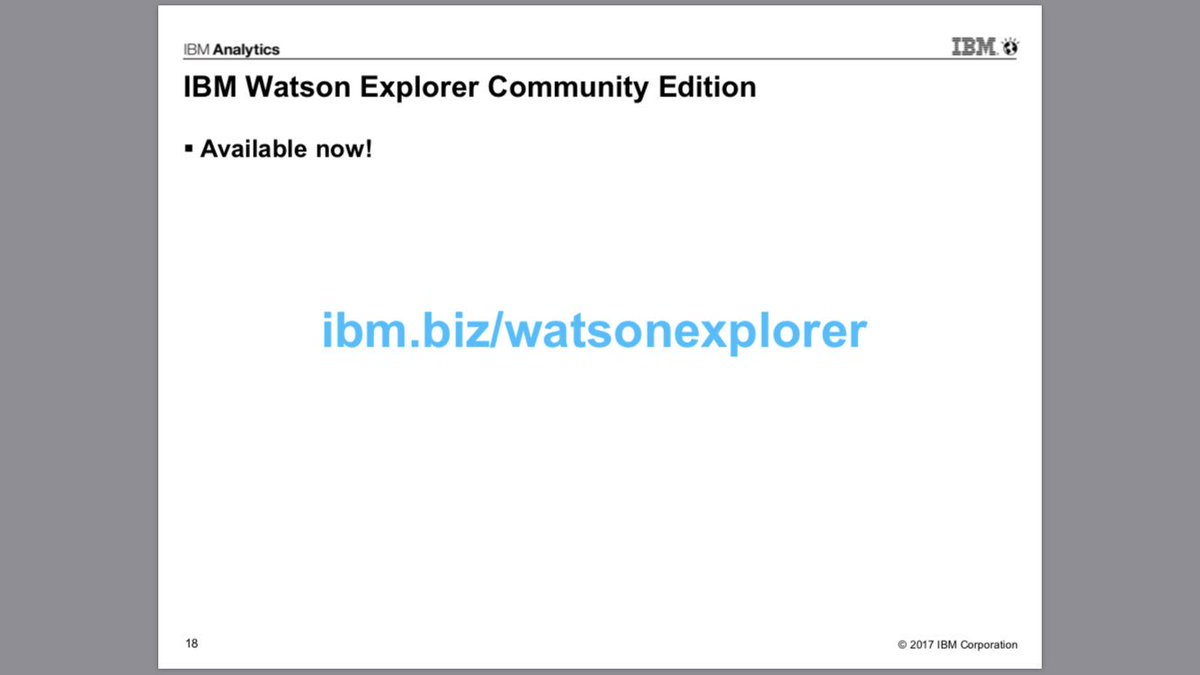 The slide says it all @IBMDataScience @IBMWatson #WEX #CE #BBBT<br>http://pic.twitter.com/So8wAb9sUh