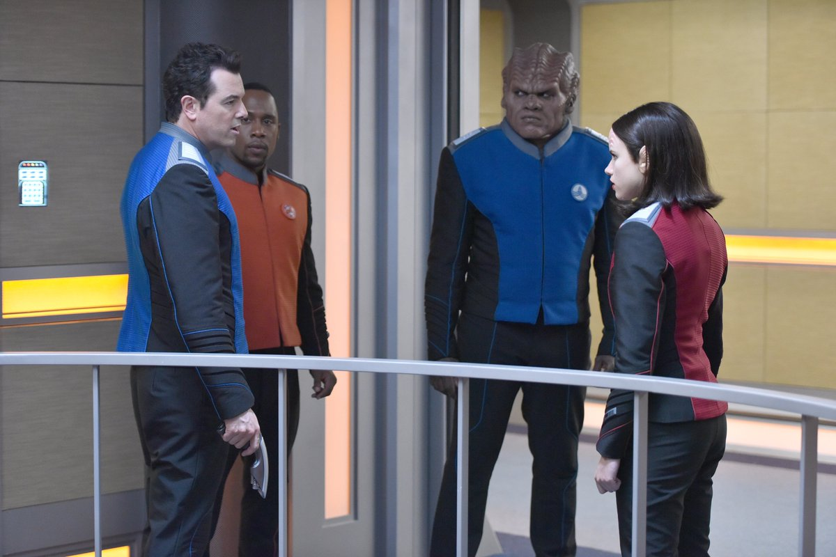 Group huddle. 👊 #TheOrville https://t.co...