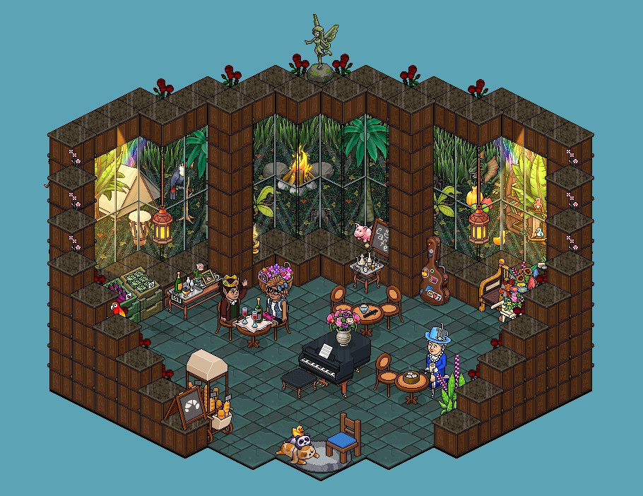 First date with @PrinzessinJona in my new Jungle Café   @Habbo @CreateHabbo   #Habbo #Building #Café<br>http://pic.twitter.com/d2rVterMKb