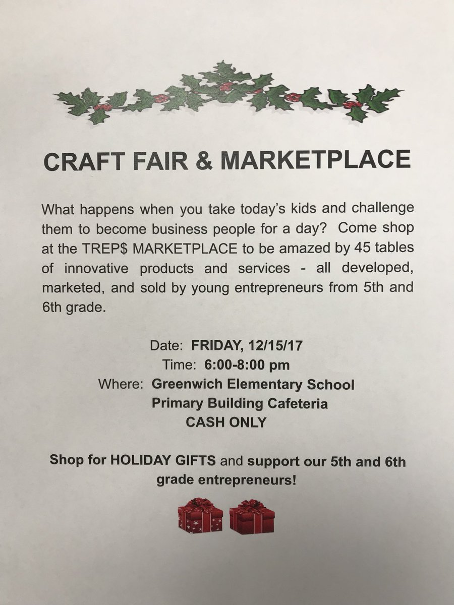 Fifth & Sixth grade entrepreneurs preparing to sell goods at the TREPS Marketplace on 12/15 from 6-8pm. #shoplocal #cashforacause