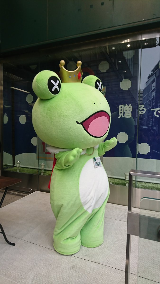 本日より、東京ハンズ渋谷店「理由(ワケ)あって、渋谷!H@NDS DE Beit!」開催です!ただいま入口ではカエールが皆様をお出迎え中♪ #理由あって渋谷 #SideM