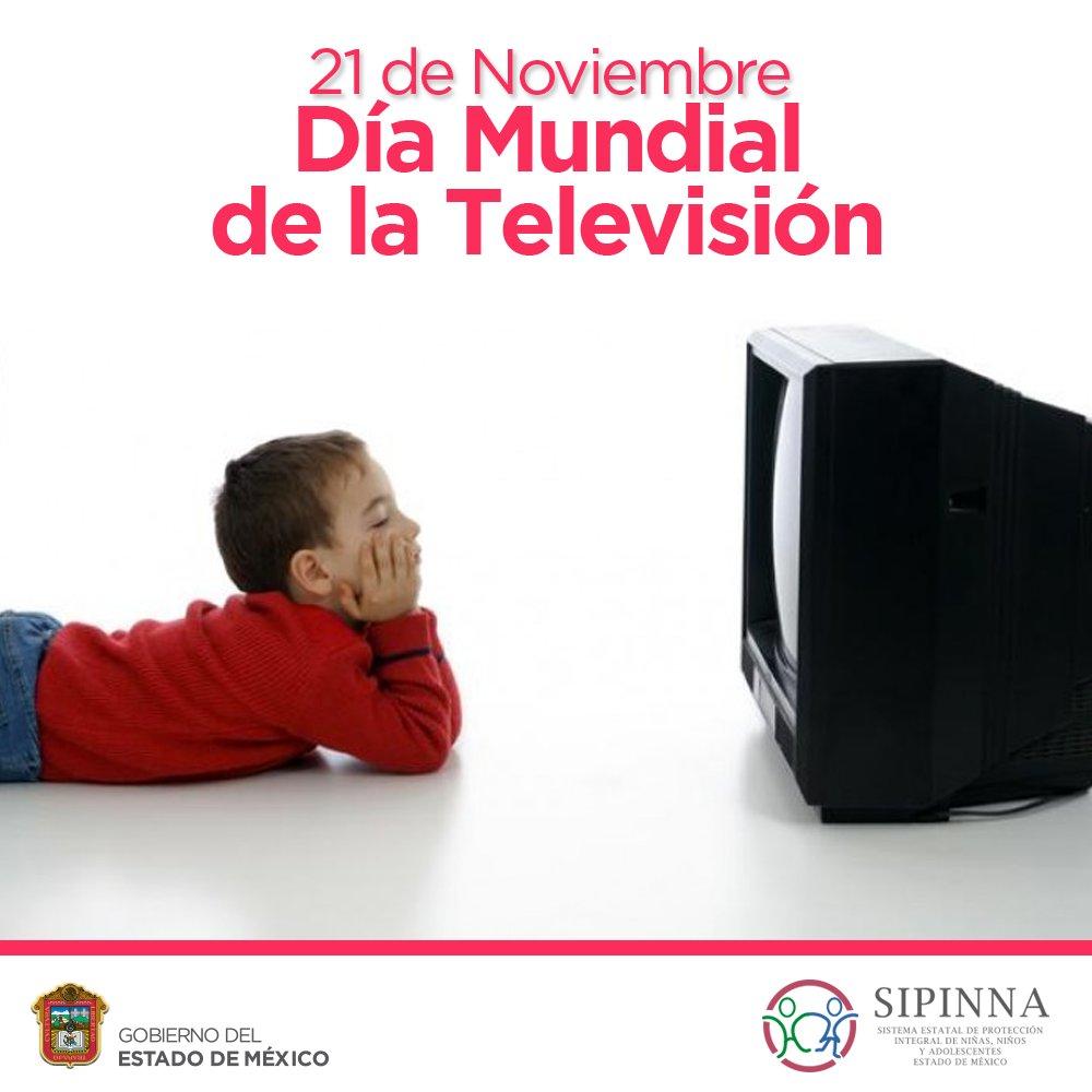 RT @SIPINNAEdomex: En 1996, la Asamblea General proclamó el 21 de noviembre #DíaMundialDeLaTelevisión https://t.co/LUTbuPNbOR