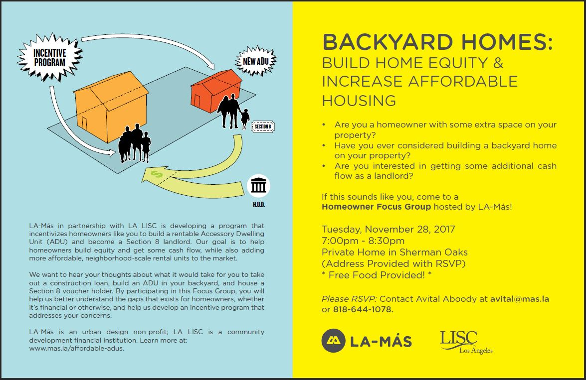 Lisc Los Angeles On Twitter Homeowner Extra Space Your M And H Wiring Property Interested In Additional As Landlord Join Mas4la For A Conversation About