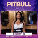 It's official! @iambeckyg is joining the @pitbullcruise . Who wants to party in paradise? https://t.co/gC1qYvT7DK #pitbullcruise #dale