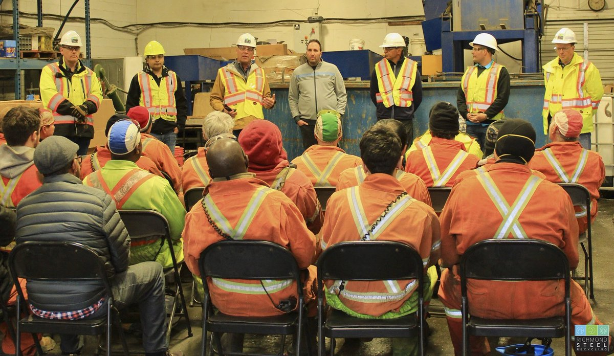 Yesterday, we had a special safety stand-down at our Richmond yard due to our company's president Steve Shinn's visit. We spoke about how our daily toolbox talks make us ever more aware of the hazards in our work environment.   #RSR #Safety #Standdown <br>http://pic.twitter.com/qlQSL4zQym