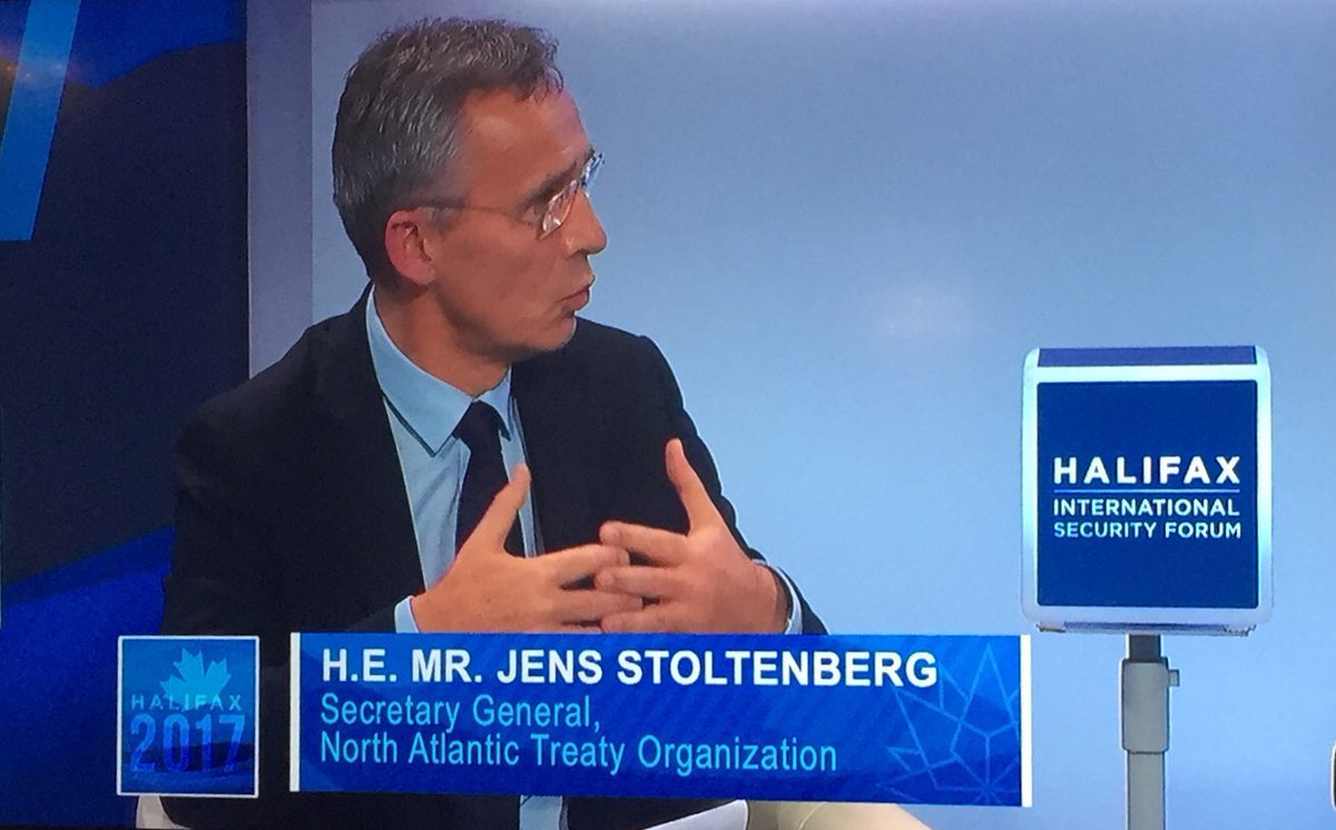 #NATO Secretary General @jensstoltenberg: empowering women is not just the right thing to do, it's the smart thing to do.  #HISF2017 @HFXforum<br>http://pic.twitter.com/LXy79NFHEO