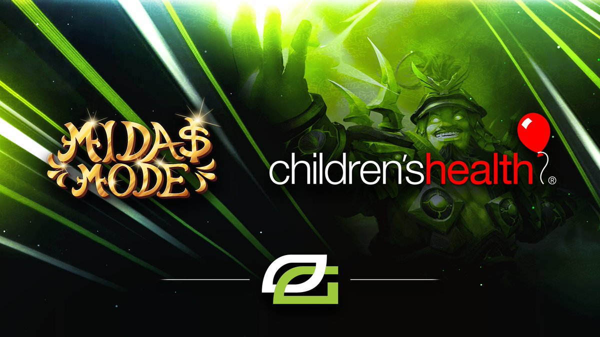 As the Season of Giving is upon us, we are proud to announce that our #OpTicDota team has chosen to represent @ChildrensTheOne in the upcoming Midas Mode tournament donating the teams winnings to The Children's Medical Center Dallas.