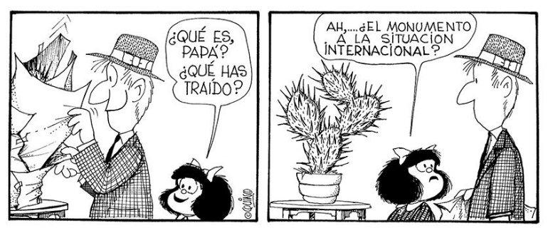 Resultado de imagen para monumento a la situación internacional mafalda