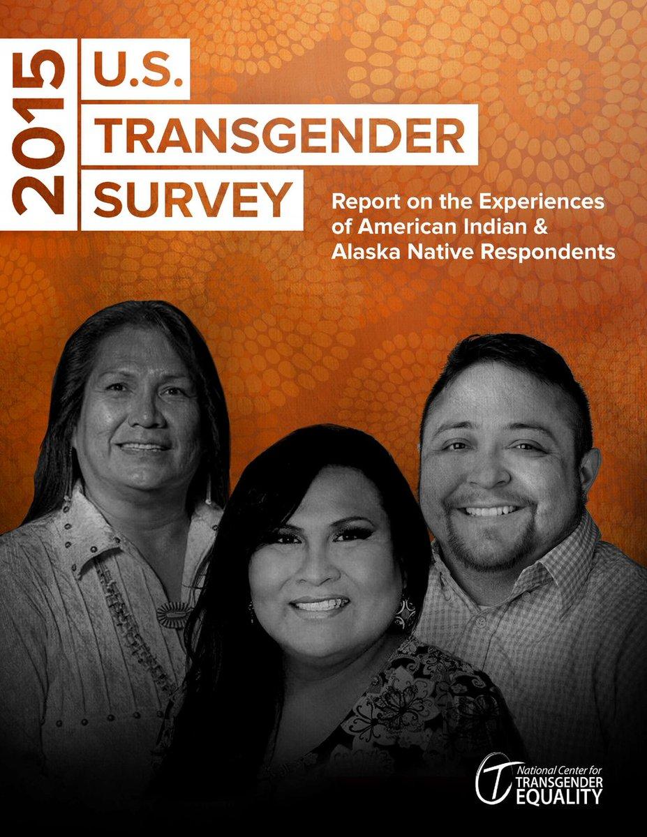 New #USTransSurvey report illustrates experiences of #transgender American Indians and Alaska Natives in the U.S.  https:// buff.ly/2AQoIKe  &nbsp;   #NationalAmericanIndianHeritageMonth #TransAwarenessWeek<br>http://pic.twitter.com/bwD2SxLjN4