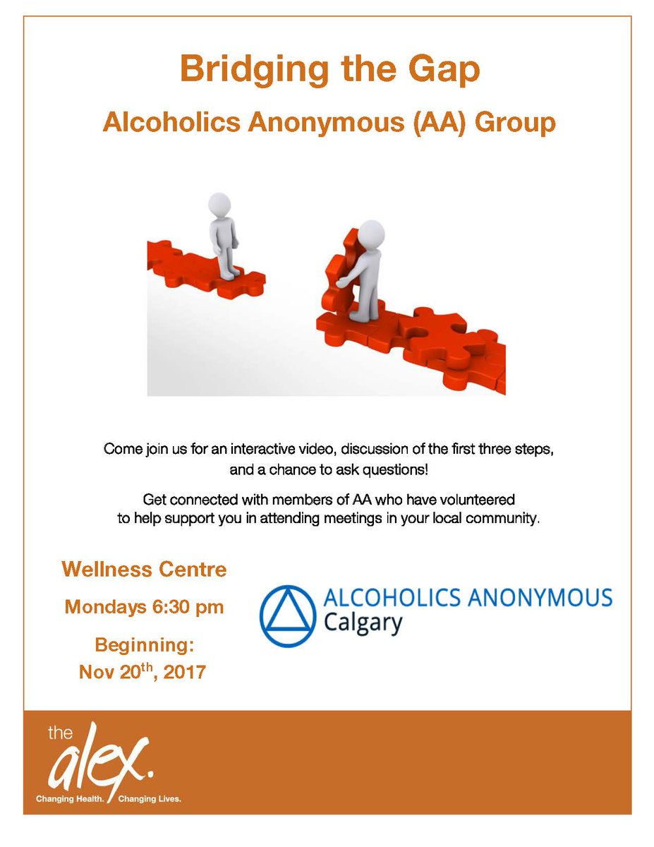 #DYK #YYC beginning Nov 20, every Monday at 630pm we will be hosting free Alcoholics Anonymous sessions for anyone struggling with alcohol. Call 4032662622 if you&#39;re interested or need more details!<br>http://pic.twitter.com/MH7VXJX6Ia