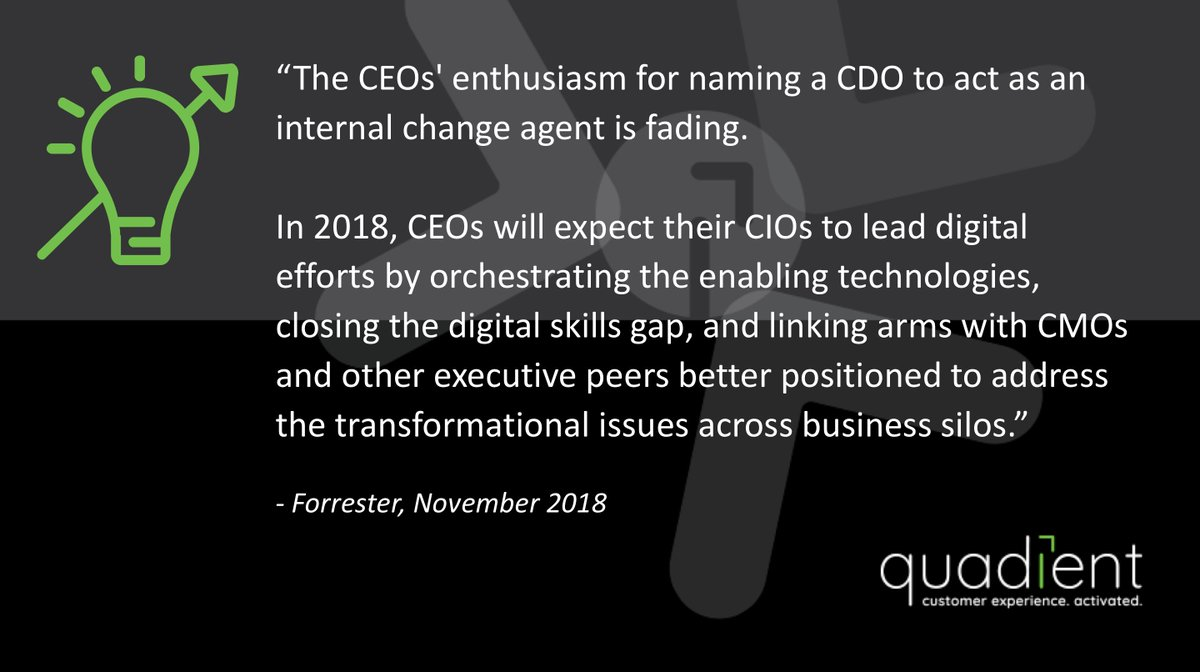 Take a look at Complimentary report from @forrester: &#39;CIO's to Make The Chief Digital Officer Obsolete&#39;  http:// cx.quadient.com/l/68752/2017-1 1-08/7gkbq2 &nbsp; …    #StarCIO  #CX <br>http://pic.twitter.com/1OA6MmQKYM