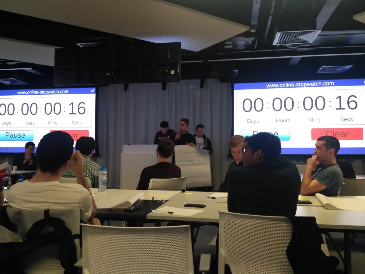 Beginning: How many will pitch? 7 hands Pitch starts- 20+ in line  #Ideas are never limited. #DCU  #SWDubUNI #Google #StartupWeekend #Innovation #Dublin #Techstars<br>http://pic.twitter.com/i8EHLRpbFK