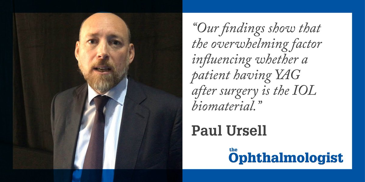 Paul Ursell on their study examining PCO rates after #cataract surgery @cataract_doctor  http:// ow.ly/e9Gk30gzwTy  &nbsp;  <br>http://pic.twitter.com/k9eaiA4Qya