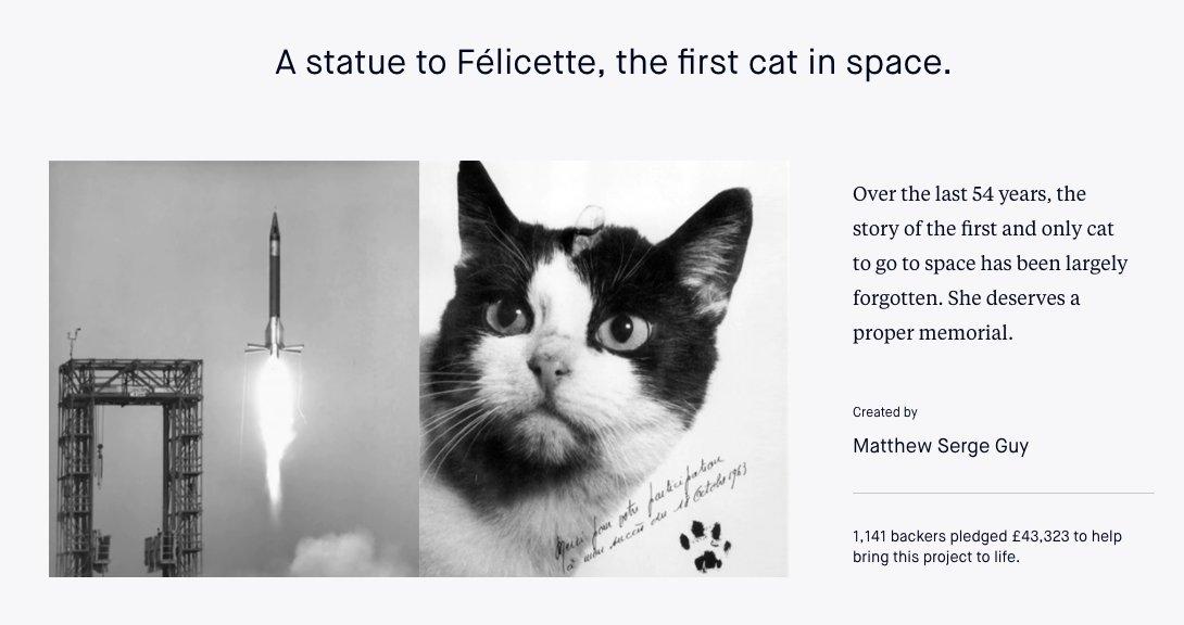 Felicette Paris Cat Space Felicette Honored Statue Paris