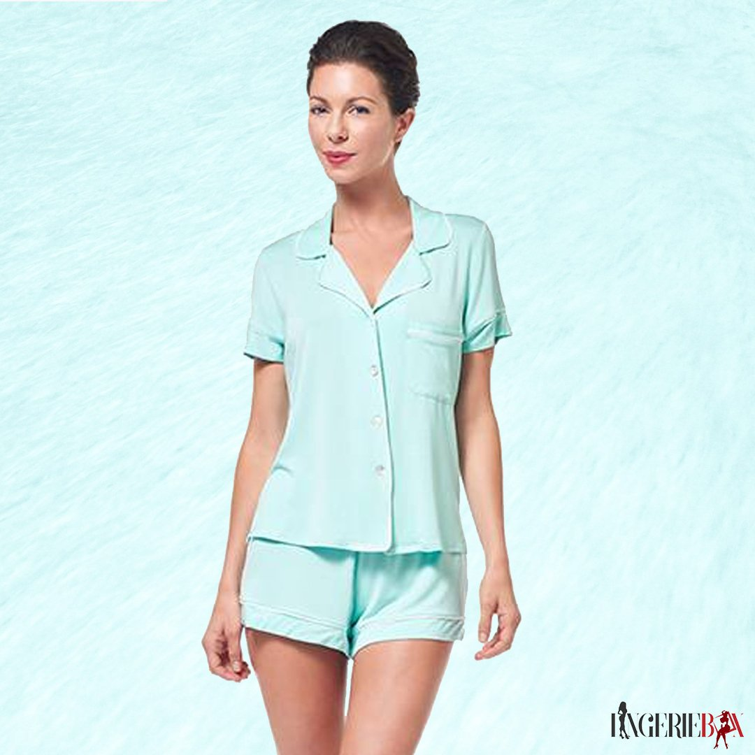 Super cute and Cozy #Pajama set in the happiest Aqua shade! #Fleur'tIntimates offers unmatched bedroom #comfort with this rayon spandex sleep shirt. You are sure to forget its presence because it's so comfortable.  #designerlingerie #subscription #freeshipping <br>http://pic.twitter.com/l3gTK7shKr