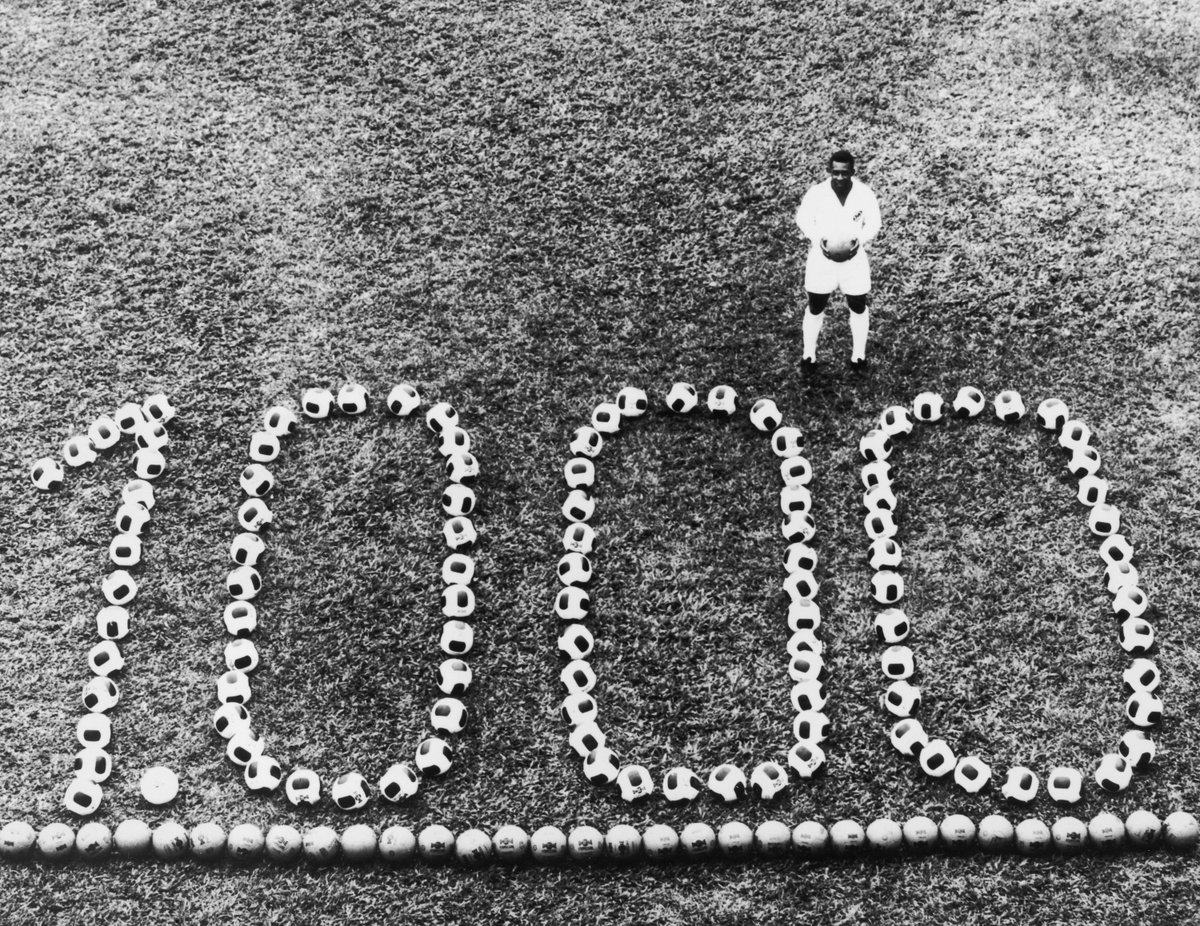 #OnThisDay in 1969, @Pele scored his 100...
