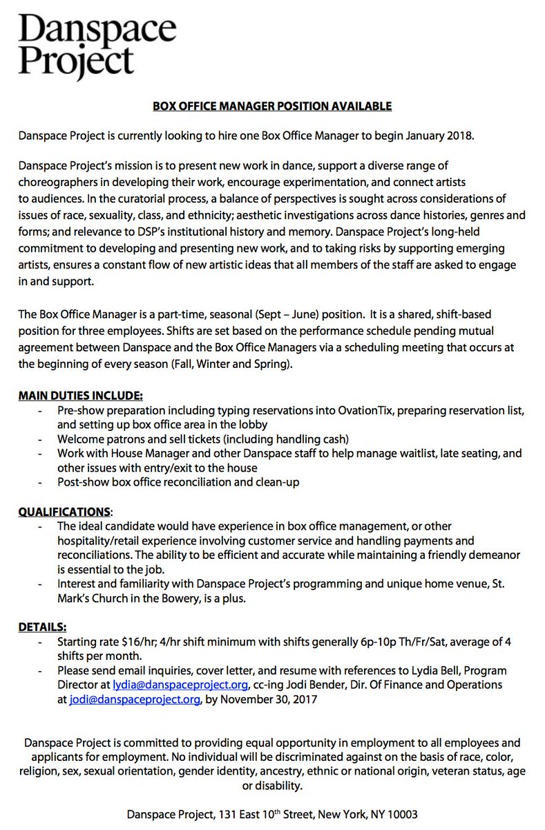Box Office Manager Cover Letter Campus Recruiting Manager Cover Letter