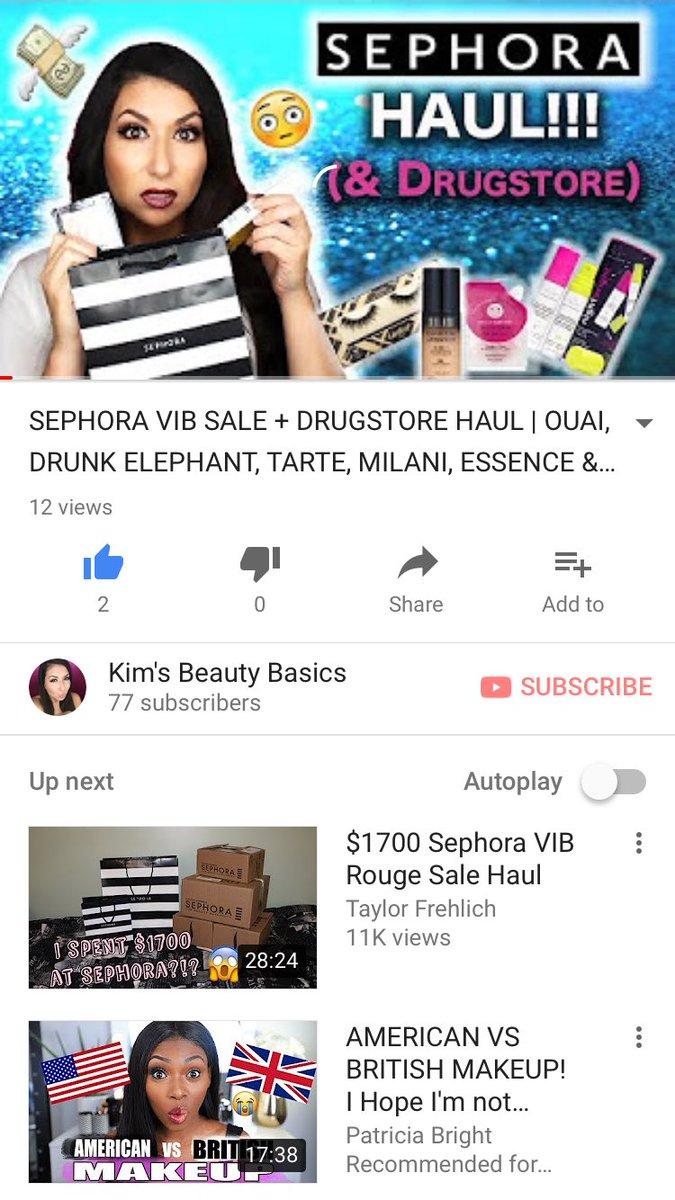 New video up! See what I got in the #vibsale at #Sephora &amp; some drugstore items that I&#39;ve been loving!  https:// youtu.be/Ka65AJAP3Zo  &nbsp;   #friday #haulvideo #makeuphaul #makeupaddict #fbf<br>http://pic.twitter.com/eRBlib2wlt