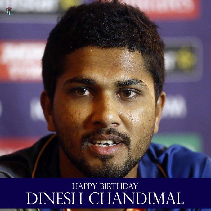 Happy  birthday, Dinesh Chandimal.
