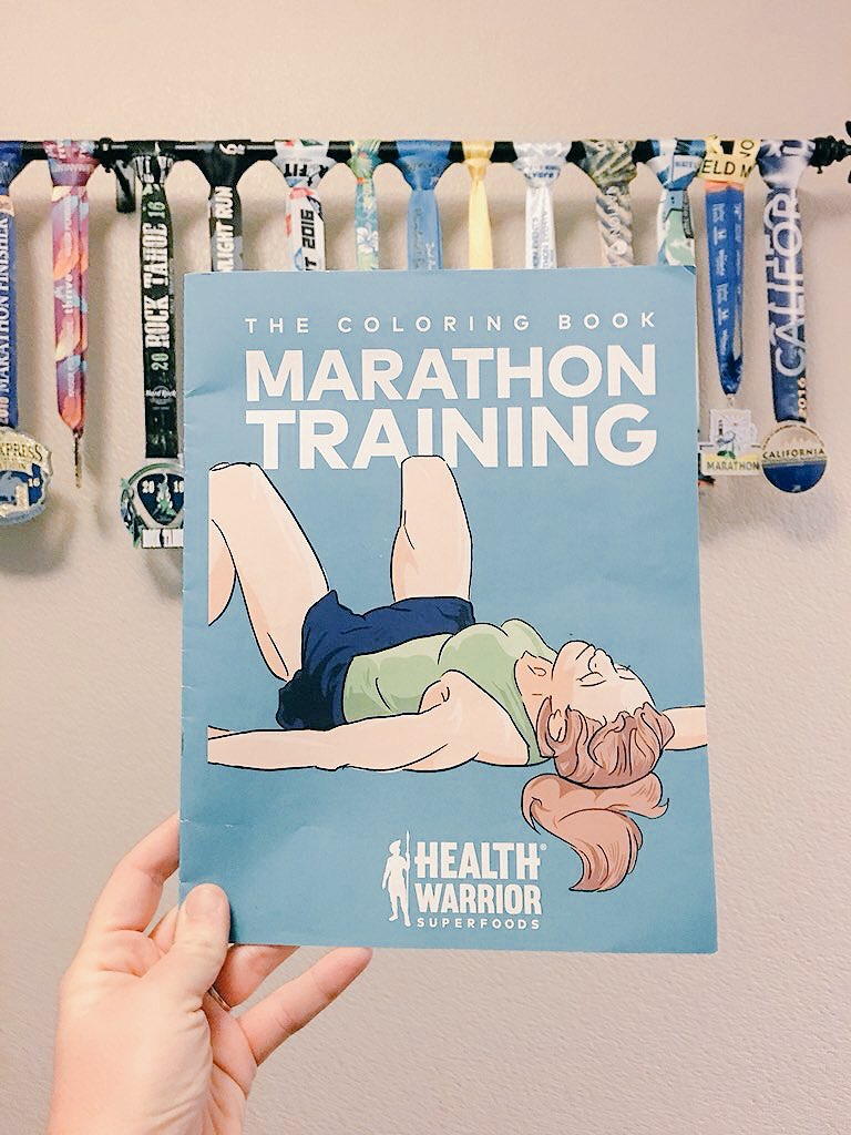 This Marathontraining Coloring Book Is Just What I Need To Help Me Relax And Laugh Get Yours FREE With Any HealthWarrior Purchase At