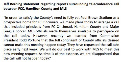 Call set up with @MLS...then  Hamilton County officials unavailable. Yep. #hacks <br>http://pic.twitter.com/VmNnuNwppd