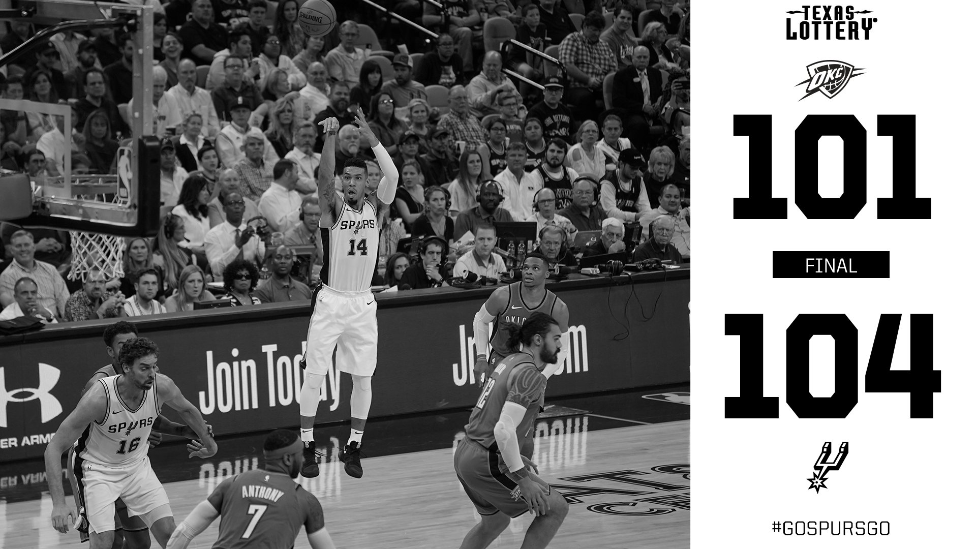 WHAT. A. GAME.  Rallied back from a 23-point deficit FOR THE WIN! #GoSpursGo https://t.co/fBEssunp5n