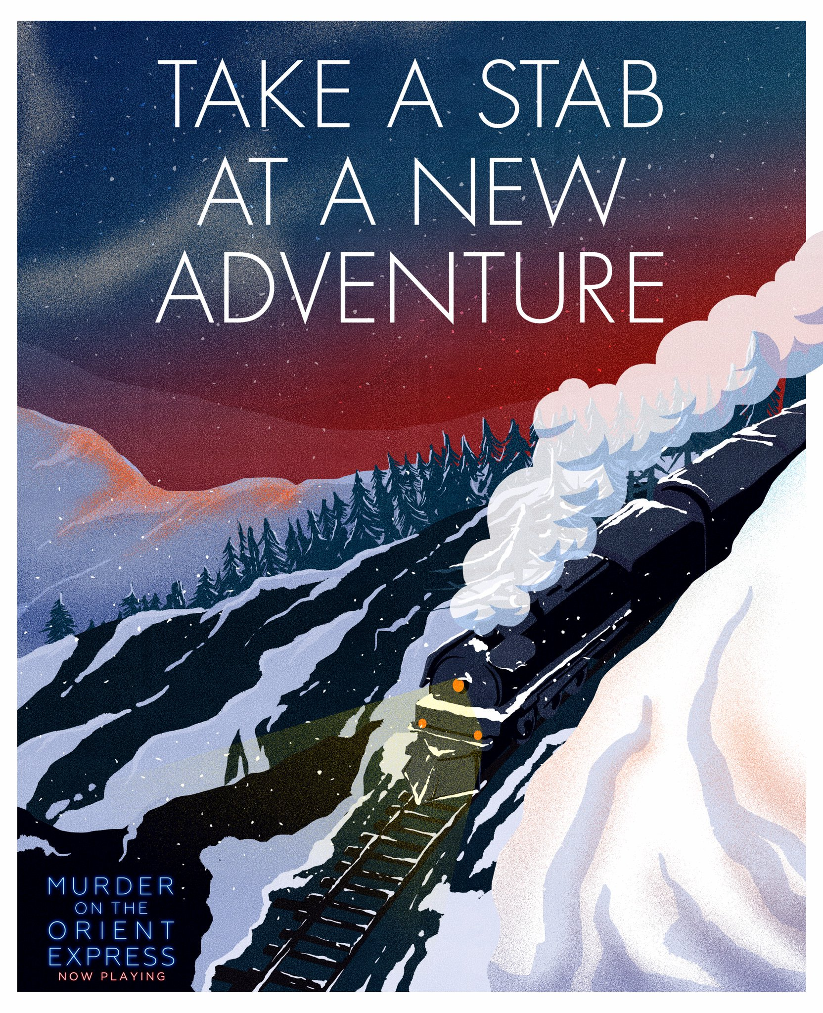 RT @andmichaelgreen: A perfect weekend to board the train and escape the world. #OrientExpressMovie https://t.co/akMocqP9hk