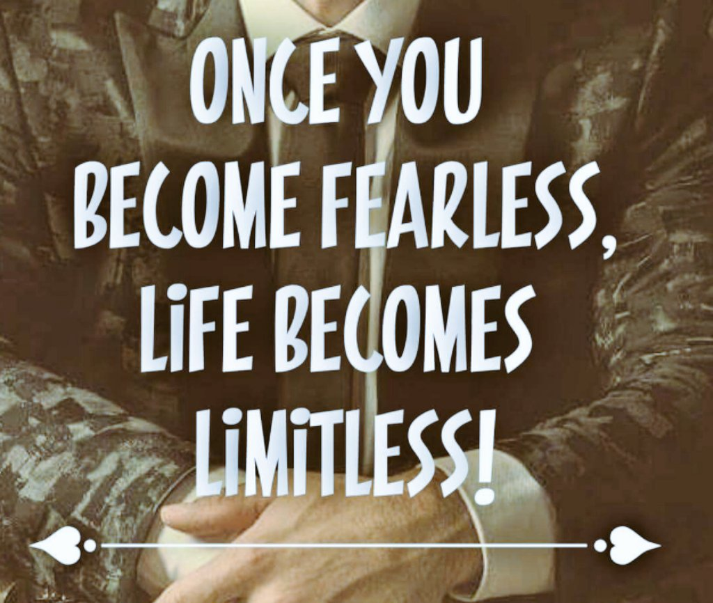 Once you become fearless, you become limitless. @fearlessmotivat #SaturdayMotivation <br>http://pic.twitter.com/clTTv29PqW