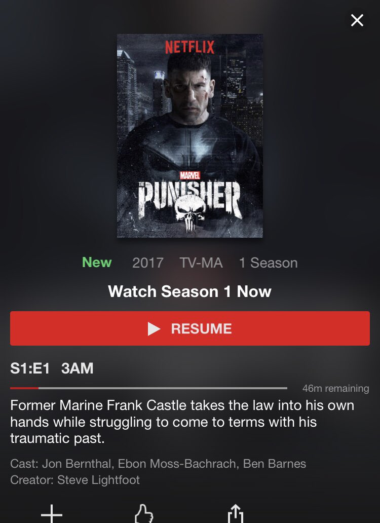 """Let the binging begin!""- @damon_rafiei  #ThePunisher  #Netflix #LBSP #PodernFamily<br>http://pic.twitter.com/DbPGjTGogl"