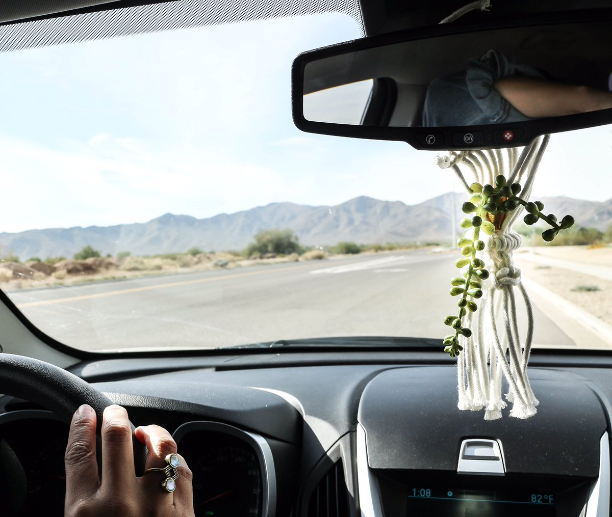 Cassie Garcia On Twitter There Is No Better Way To Make My Cars Environment More Like My Home Away From Home Than By Adding A Little Greenery Made This Mini Macrame Plant