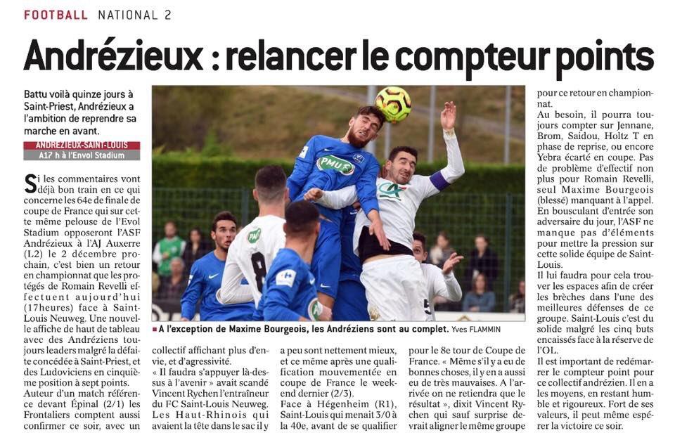 #ASFSLN «Relancer le compteur points.» titre @Le_Progres  #National2  #TeamASF pic.twitter.com/YMCHdzx6NJ